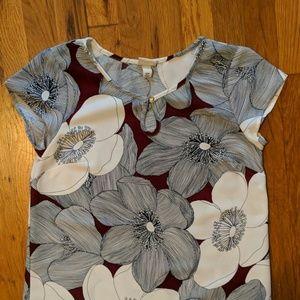 Merona Abstract Floral Shift Dress